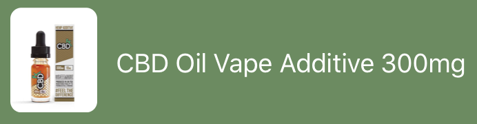 CBD Oil Vape Additive 300mg