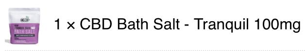 CBD Bath Salt Tranquil