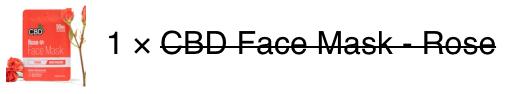 CBD Rose Face Mask Rose x 1