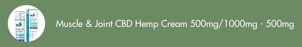 Muscle & Joint CBD Hemp Cream