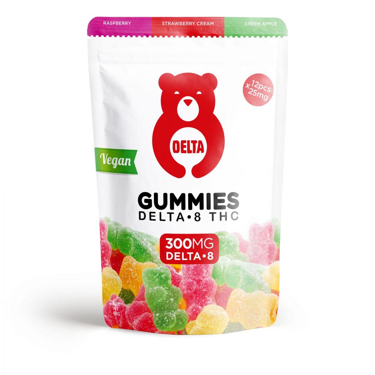 delta-8-thc-gummy-bears-vegan-red-bear-assortment-raspberry-strawberry-cream-green-apple-300mg