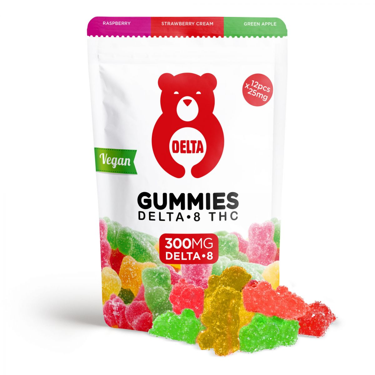 delta-8-thc-gummy-bears-vegan-red-bear-assortment-raspberry-strawberry-cream-green-apple-300mg_0